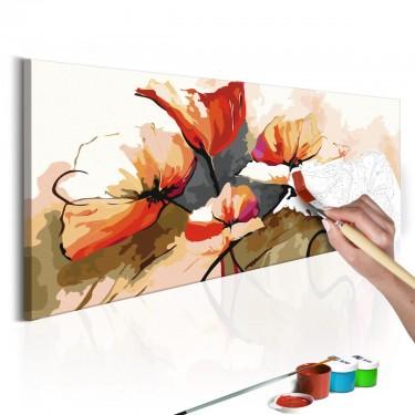 Obraz do samodzielnego malowania  Kwiaty  delikatne maki