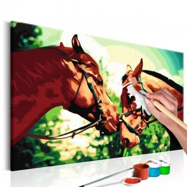 Obraz do samodzielnego malowania  Malowanka  Konie