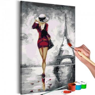 Obraz do samodzielnego malowania  Paryżanka
