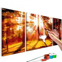 Obraz do samodzielnego malowania - Las (Jesień)