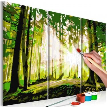 Obraz do samodzielnego malowania  Las (Wiosna)