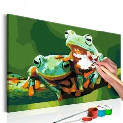 Obraz do samodzielnego malowania - Żabki
