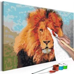 Obraz do samodzielnego malowania - Lion