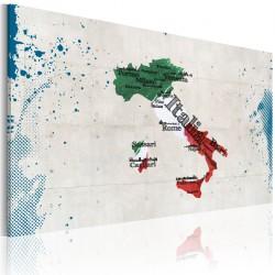Obraz  Mapa Włoch