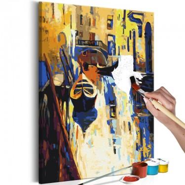 Obraz do samodzielnego malowania  Wenecja (gondole)