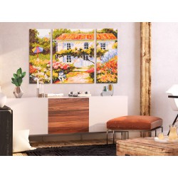 Obraz do samodzielnego malowania  Domek na wsi