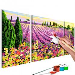 Obraz do samodzielnego malowania - Pole lawendy