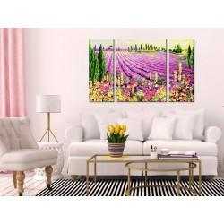 Obraz do samodzielnego malowania  Pole lawendy
