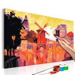 Obraz do samodzielnego malowania - Czerwony wiatrak