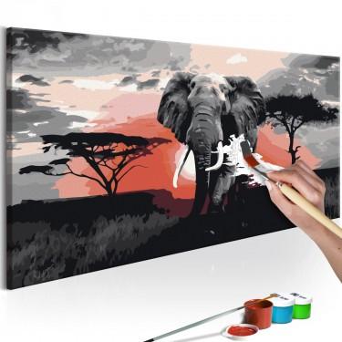 Obraz do samodzielnego malowania  Słoń (Afryka)
