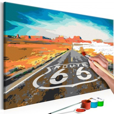 Obraz do samodzielnego malowania  Route 66