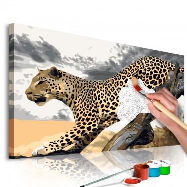Obraz do samodzielnego malowania  Gepard