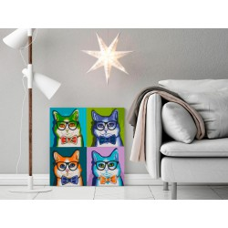Obraz do samodzielnego malowania  Koty w okularach