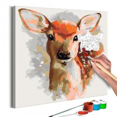 Obraz do samodzielnego malowania  Uroczy jelonek
