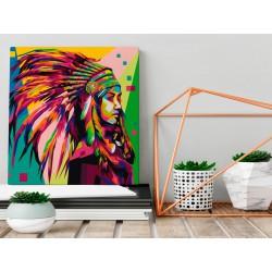 Obraz do samodzielnego malowania  Indianin (pióropusz)