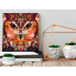 Obraz do samodzielnego malowania  Geometryczna sowa