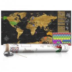 Mapa zdrapka Złota mapa plakat (wersja angielska)