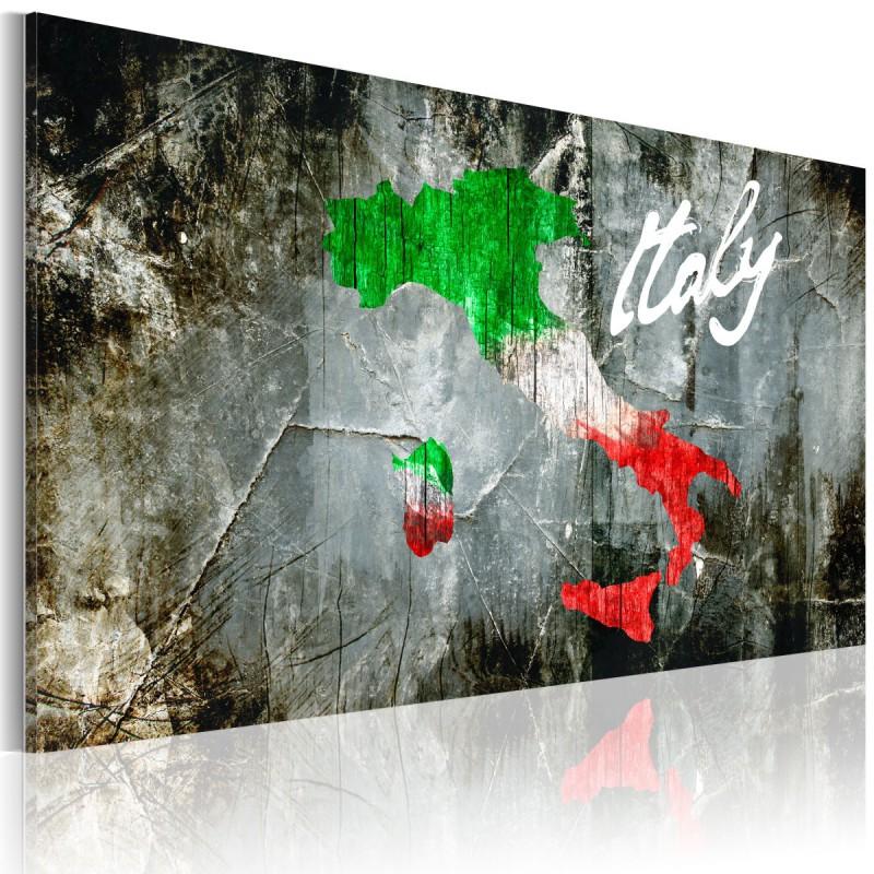 Obraz  Artystyczna mapa Włoch