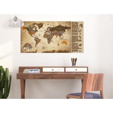 Mapa zdrapka  Mapa vintage  plakat (wersja angielska)