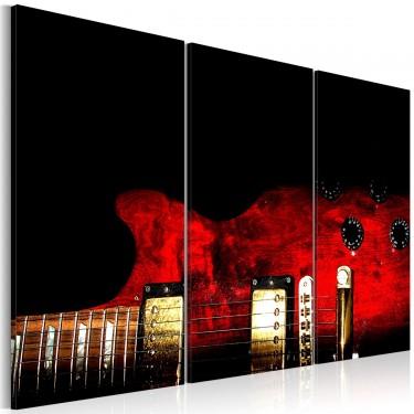 Obraz - Czerwona gitara