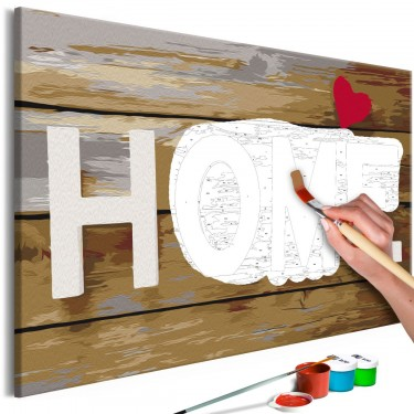 Obraz do samodzielnego malowania  Home z sercem