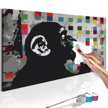 Obraz do samodzielnego malowania  Zamyślona małpa