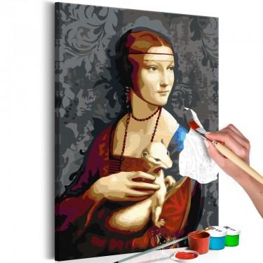Obraz do samodzielnego malowania  Słynny portret