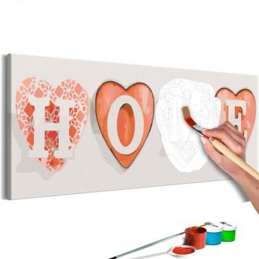 Obraz do samodzielnego malowania  Cztery serca