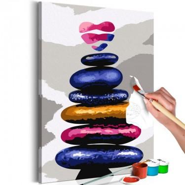 Obraz do samodzielnego malowania  Kolorowe kamyczki