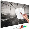 Obraz do samodzielnego malowania Nowojorski most