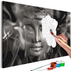 Obraz do samodzielnego malowania Czarnobiały Budda