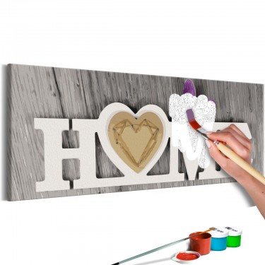 Obraz do samodzielnego malowania  Home i motyl