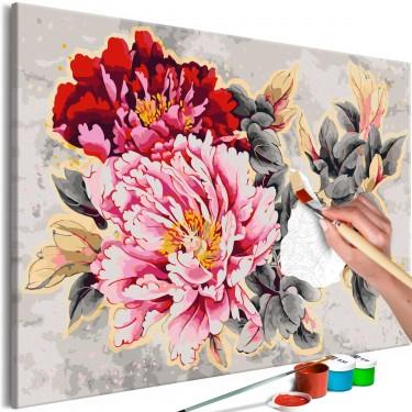 Obraz do samodzielnego malowania  Piękne piwonie