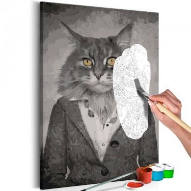 Obraz do samodzielnego malowania  Elegancki kot