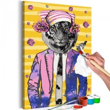Obraz do samodzielnego malowania  Tygrys w czapce