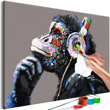 Obraz do samodzielnego malowania  Muzykalna małpa