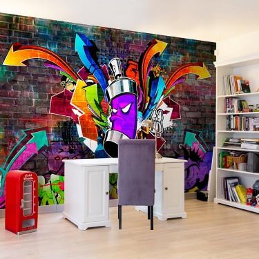 Fototapeta  Graffiti Kolorowy atak