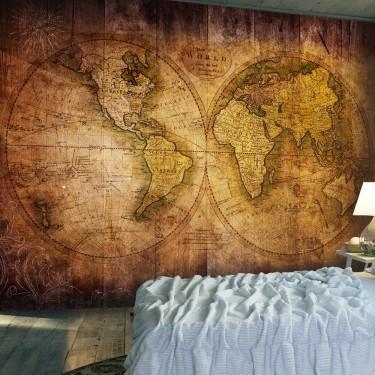 Fototapeta  Świat na starej mapie