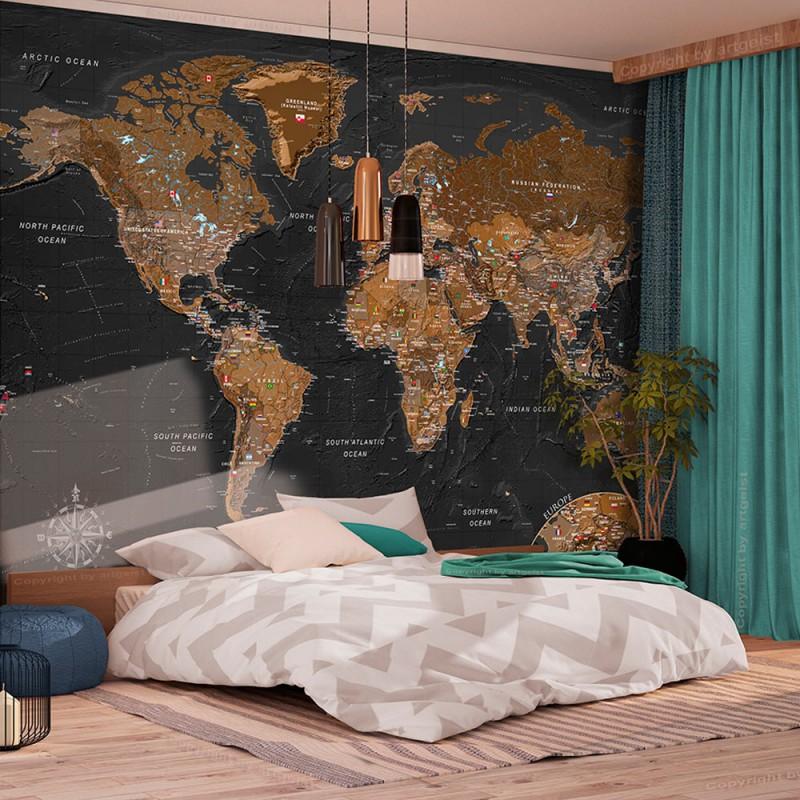 Fototapeta  Świat Stylowa mapa