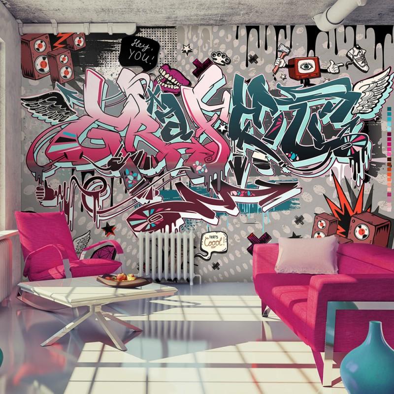 Fototapeta  Graffiti hej Ty!