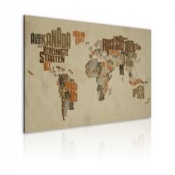 Obraz  Mapa świata (Język niemiecki)