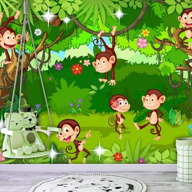 Fototapeta  Małpie sztuczki