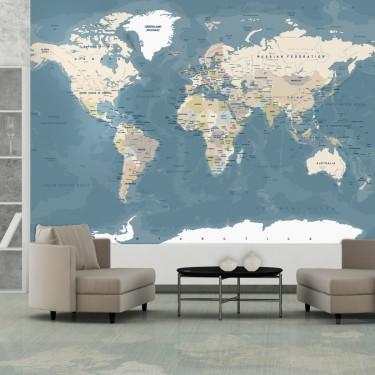 Fototapeta  Mapa świata vintage