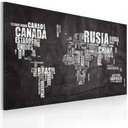 Obraz  Mapa świata (Język hiszpański)