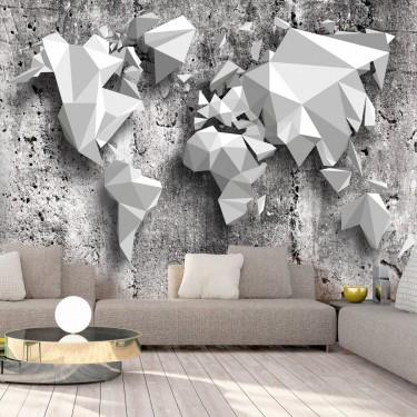 Fototapeta  Mapa świata origami