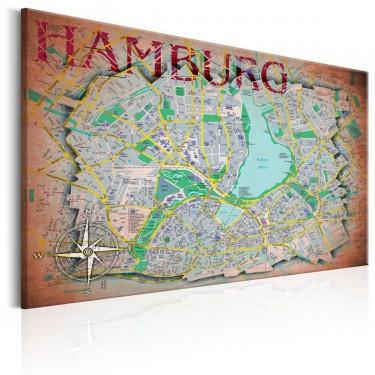 Obraz  Mapa Hamburga