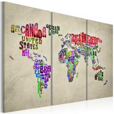 Obraz  Kolorowe państwa  tryptyk
