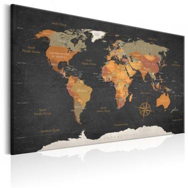 Obraz  Mapa świata Tajemnice Ziemi