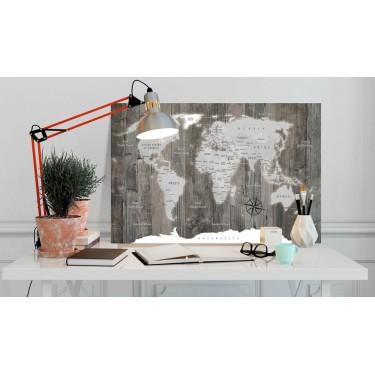 Obraz  Mapa świata Drewniany świat