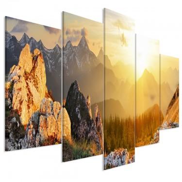 Obraz  Powitanie słońca (5częściowy) szeroki